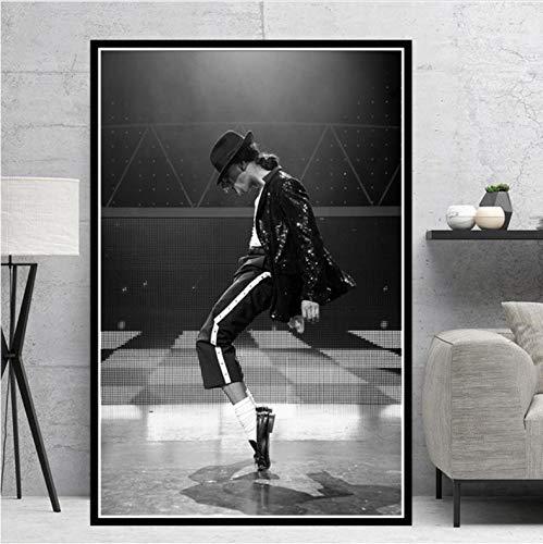 danyangshop Impresiones De Carteles Michael Jackson Rock Pop Music Legend Star Pintura Al Óleo Lienzo Arte De La Pared Imágenes para Sala De Estar Decoración del Hogar A282 (40X50Cm) Sin Marco