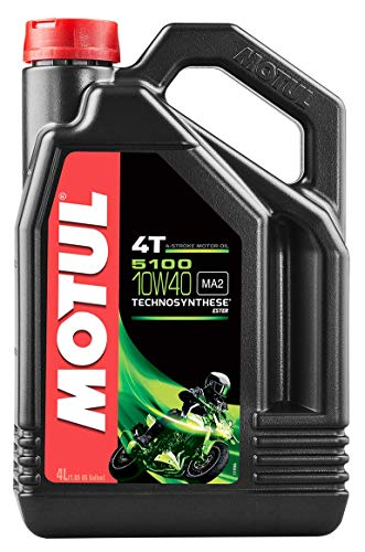 Motul 104068 5100 10W-40 4T Synthetic Blend Engine...