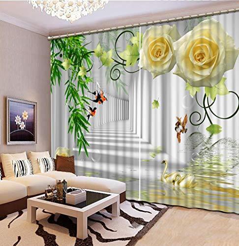 LAIQIAN Vorhang 3D des Schmetterlinges, Blumen-Bambusvorhang des Vorhangs 3D, moderner dekorativer Vorhang des Wohnzimmers-220 (Breite) x 215 (Höhe) cm (1 Zoll = 2,5 cm, 88 x 86 Zoll)