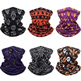 Adult Neck Gaiter Balaclava Breathable Face Cover Scarf Unisex Face Bandana for Halloween Party