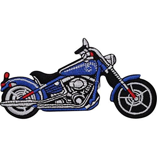 Azul Chopper motocicleta hierro bordado/coser en insignia parche–Chaqueta de moto
