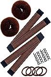 Hawwwy 12-Piece Hair Bun Maker, Perfect for Small Hair Donut Buns or Thin