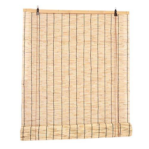 TCYLZ natuurlijke bamboe gordijn rolgordijnen, schaduw riet rietgordijn, vintage gordijnen, outdoor interieur meubeldecoratie, tillen decoratieve luiken, aanpasbaar