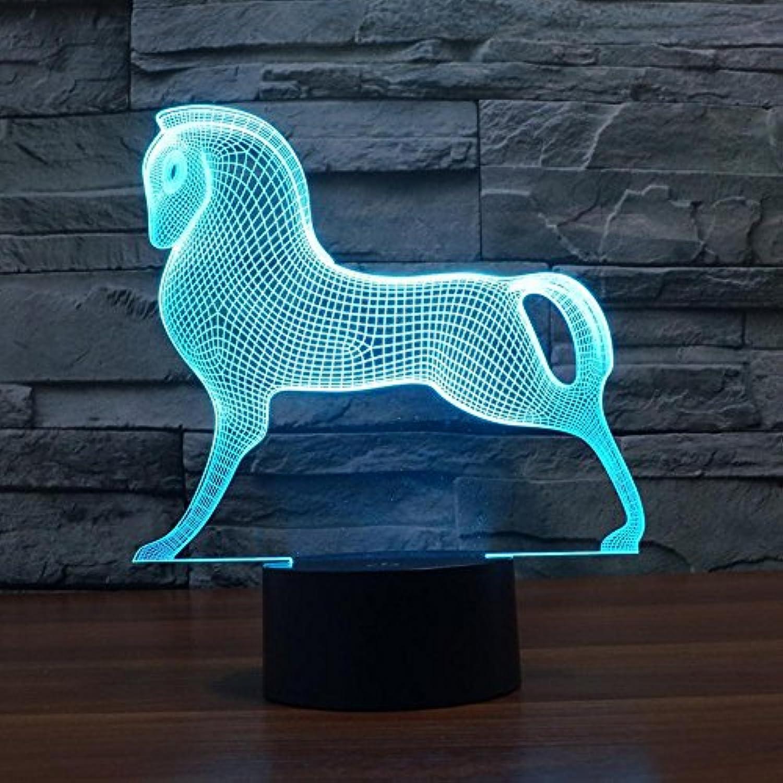 Lozse 3D Nightlights, Trojan Fernbedienung 3D-Lichter bunte Touch-LED sichtbares Licht Geschenke dekorative Lampen, Bestees Geschenk für Freunde Kinder