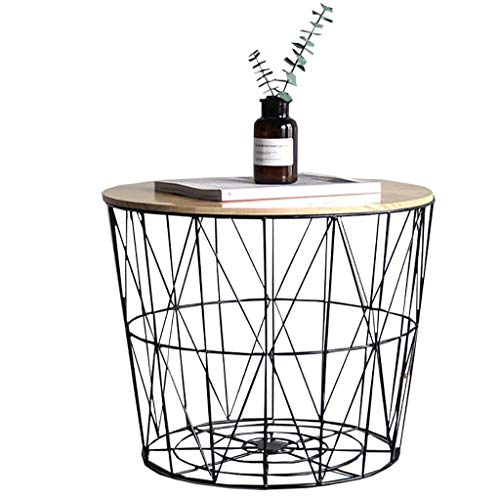 Nachttische Sofa Beistelltische Accent Couch Home D & eacute; cor Produkte Wohnzimmermöbel mit Ablagekorb mit Metallrahmen Komfort Espresso für kleine Räume