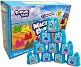 Dynamic Play Sand Art [10 Pack] Arts and Crafts for Kids   Multi Color Combo Kit Play Sand with Castle Molds Containers   Stress Relief Toys for Kids and Adults   Party Favors