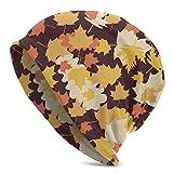XCNGG Amarillo Rojo Canadá Hojas de Arce Gorros de Punto para Mujer para Hombre Sombreros de Invierno Gorros de Cobertura