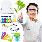 Science Kits for Kids Lab Coat Scientist Costume Toys for Kids