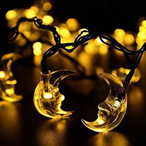 ParaCity Lampes solaires d'extérieur 4,9 m 20 LED Lampes de vacances Guirlande de Noël Guirlande de jardin étanche Lumières solaires (Blanc chaud)