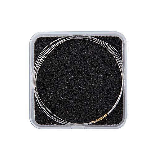 PandaHall 0.3mm Argento 925 Filo Tondo Argento Filo Metallico per Gioielli Artigianato Artigianato, 2m / Scatola