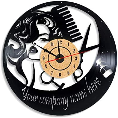 Levescale TM Hairdresser Vinyl Wall Clock Vintage Style for Her Girl Man Decoration for Living product image