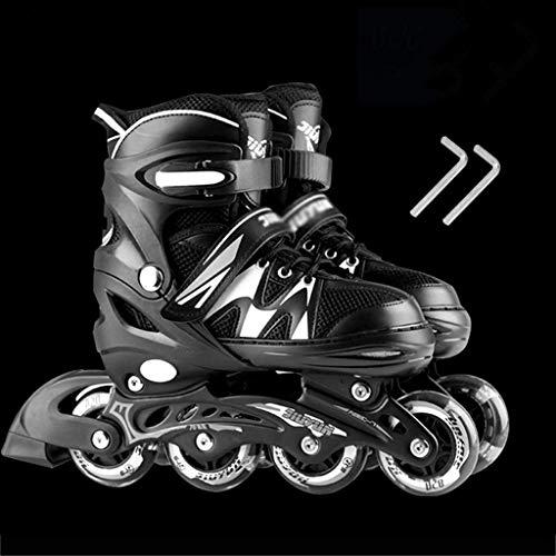 Patines en línea Rodillo Ajustable Patines en línea Conjunto de patines en línea profesional de niños con los frenos de una hilera de rodillos Cuchillas línea patinaje de velocidad Zapatos Principiant