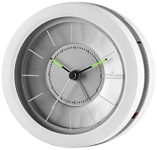 ATRIUM Designwecker rund analog weiß ohne Ticken, mit Licht und Snooze A106-0