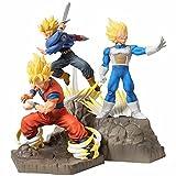 3 Piezas Dragon Ball Z Arf Fighting Goku Trunks Vegeta Anime Figura Super Saiyan Juguetes Dragon Ball Super Figuras De Acción Estatuilla Juguetes Coleccionables 15-20Cm
