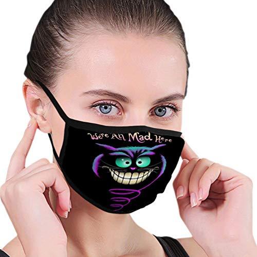 Hart.M Mund Scraf Gesichtsbedeckung Anit Dust Shield Lächeln Cheshire Cat Wir sind alle Hier verrückt Mundschutz