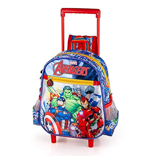 Zaino Asilo con Trolley Avengers Marvel 2 Ruote Manico ALLUNGABILE-60316C