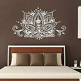 Lotus bohemio marroquí caso vinilo pared Yoga pegatinas de pared calcomanía de pared inspiradora letras