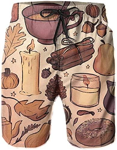 Pantalones Cortos De Playa Transpirables para Hombre Bañadores Pantalones Cortos De Otoño De Secado Rápido Adecuados para Surf De Verano Y Junto A La Piscina L