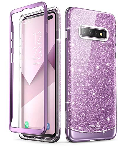 i-Blason Cosmo Series Designed for Galaxy S10 Plus Case Stylish Protective Bumper Case Without Built-in Screen Protector for Samsung Galaxy S10 Plus 2019 Release (Purple)