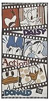 丸眞 バスタオル ディズニー ドナルド&デイジー 60×120cm アクションムービー 綿100% 2005037900