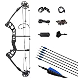 ZSHJG Archery Compound Bow Kit Complete Compound Bow Arrow Package Set 30-55lbs Adjustable