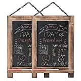 2 PCS Hanging Decorative Chalkboards Sign with Frame for Kitchen,...