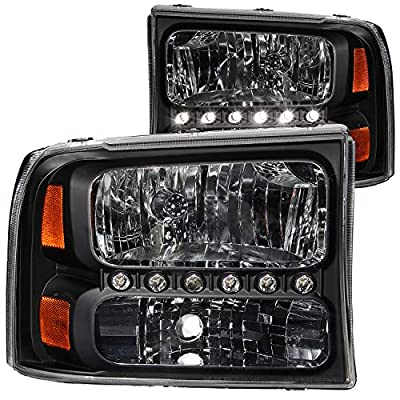 Anzo USA Ford Crystal Clear With LED Strip Headlight Assembly
