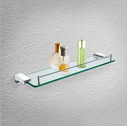 Étagères murales Supports de plate-forme simple de salle de bains de style européen, étagère en verre de salle de bains d'hôtel, ensemble de suspension pour cuisine et salle de bains