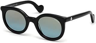 Sunglasses Moncler ML 15 ML 0015 01X shiny black / blu mirror