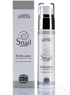 Baba de caracol y ozono crema facial Bio y patentada 50 ml - BioDynamic Donatella Veroni Snail Serum con efecto antiarruga...