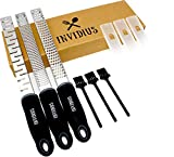 Invidius Trio zesteurs 3 Lames Uniques Multifonction - Zesteur Agrumes - Rape Fromage -Rape Chocolat - rapeuse Legume (Zeste de Citron, Coupe Legume, Rape Legume, râpe Citron)