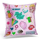 Zcfhike Kopfkissenbezüge Flamingo Kiss Art Decorator Cushions CaseFor Sofa Home Decorative...