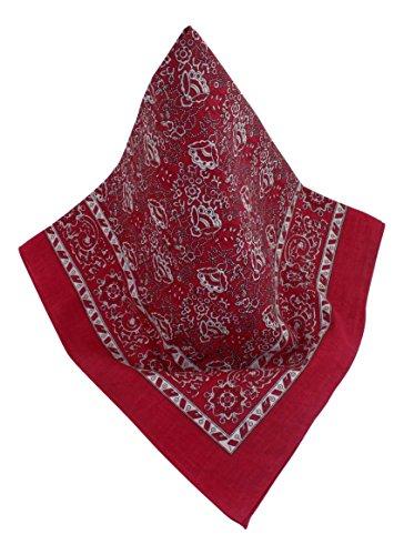 Rotes Nickituch mit modernem Blumenmuster | Bandana aus 100% Baumwolle | 70 x 70 cm | Halstuch | Teichmann