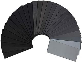 Dabron 紙ヤスリ サンドペーパー 耐水ペーパー セット 36枚入 9種類 (#400・#600・#800・#1000・#1200・#1500・#2000・#2500・#3000×各4枚) 研磨用パッド サンダー取り付け可能