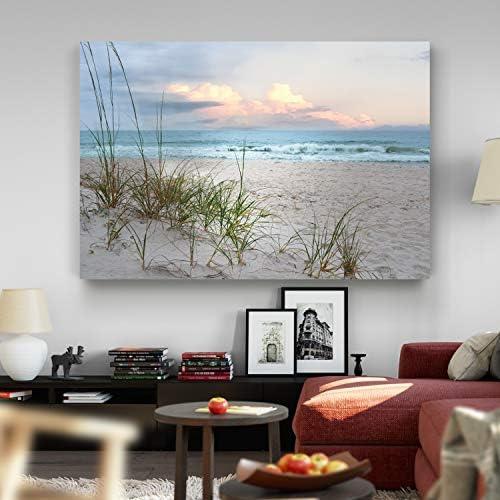 Renditions Gallery Modern Landscape Picture Decorations Canvas Prints Seascape Forest Sunset product image