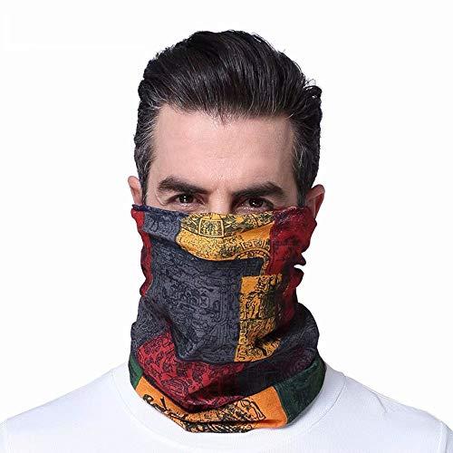 Zonnescherm Gezicht Handdoek-Multifunctionele Ademende Print Naadloze Outdoor Rijden Hoofdband Uv-Bescherming Nek Stof Sjaal Outdoor Wandelfiets