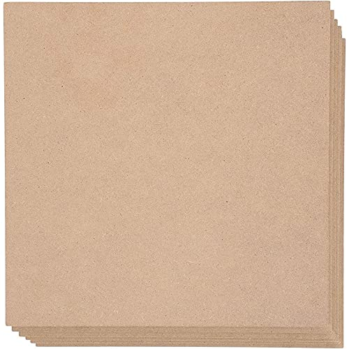 MDF Board, Chipboard Sheets for Crafts (10 in, 6 Pack)