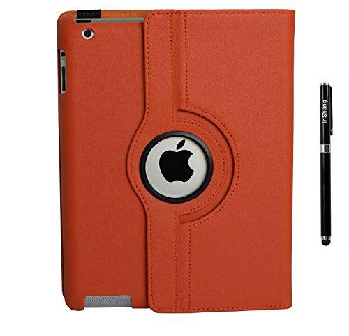 inshang Custodia Cover Compatibile con iPad Custodia iPad 2 iPad 3 iPad 4 Cover iPad, Rotazione a 360 Gradi, Supporto, con Auto Sveglia Sonno Pennino