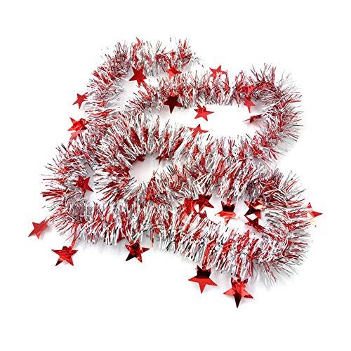 kentop guirnalda navideña Árbol de Navidad espumillón Estrella guirnalda Árbol de Navidad Navidad Decoración...