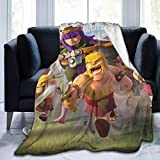 DISGOWONG Plush Ultra-Soft Micro Fleece Queen Size Blanket Sheet for Sofa Bedding Home Travel Camping Throw Dorm Cla-sh of cl-ans Blanket 50'×40'