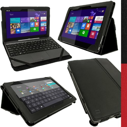 igadgitz U2774 Nero EcoPelle Cover Custodia Compatibile con Asus Transformer Book T100 10.1