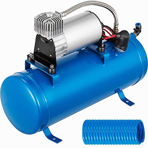BuoQua Compresor de Aire de Bocina Aire Comprimido 12 V 150 PSI, Compresor de Aire de Trompeta de Aire con Dos Trompetas y Compresor 12 V 150 PSI, Camión Bocina de Aire, Bocina Camión, Bocina Coche