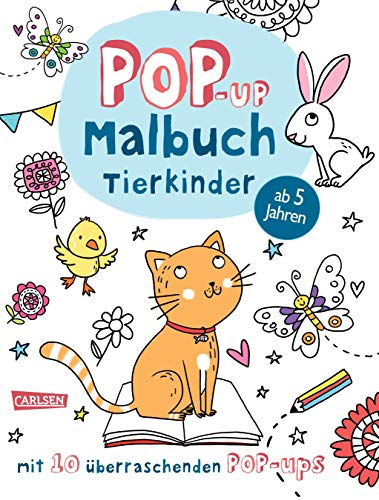 Pop-Up-Malbuch: Tierkinder: Malen und Basteln mit 10 überraschenden Pop-Ups!