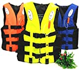 PINK PARI (LABEL) Polyester Adult Life Jacket Universal Swimming Boating Ski Vest Swim