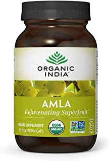 Organic India Amalaki Herbal Vitamin Supplement - Immune Support, Vitamin C, Vegan, Gluten-Free, Kosher, Ay...