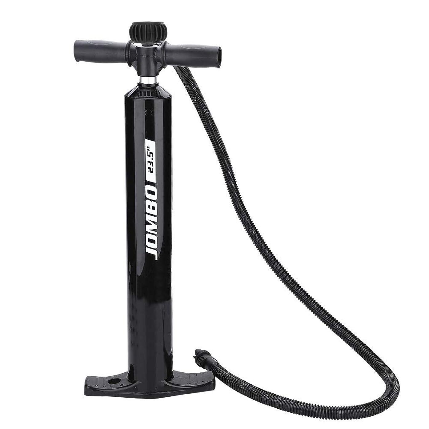 フィドル開拓者マイク自転車 手動ポンプ 空気入れ 最大空気圧20psi コンパクト 軽量 膨脹可能 圧力計付き ブラック