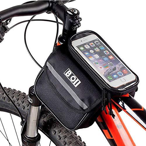ZZKK Fietstas voor mountainbike, zadeltas voor, grote mobiele telefoon, grote capaciteit, reserverijuitrusting