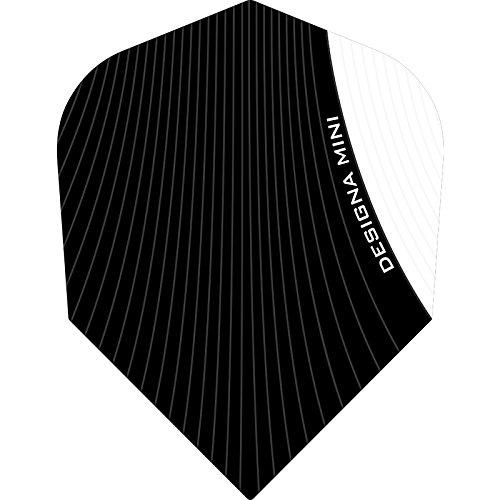Designa Infusion Dart Flights–Mini weiß–5sets (15)–inklusive Darts Ecke gebogen Kugelschreiber