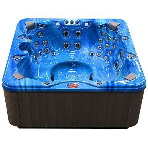 American Spas AM-756BP 6-Person Hot Tub, Summer Sapphire