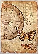 Stamperia Papel de Arroz Mariposas, 21 X 29.7 Cm, Multicolor,